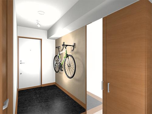 「ゆとりの部屋」玄関パース図