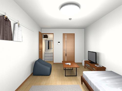 「ゆとりの部屋」室内パース図